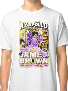James Brown. The Godfather of Soul. Music. Art. Print. New York. Apollo. Rock and Roll. Get on up movie. Funk. Funky. Classic T-Shirt