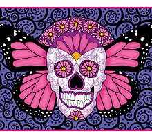 Butterfly Sugar Skull by Lisa Vollrath