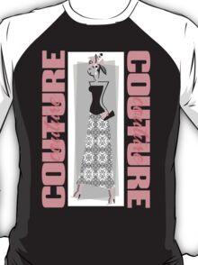 haute couture retro high fashion crazy hat T-Shirt