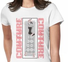 haute couture retro high fashion crazy hat Womens Fitted T-Shirt