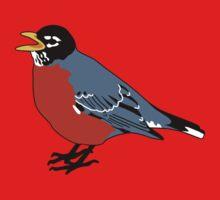 American Robin Bird Baby Tee