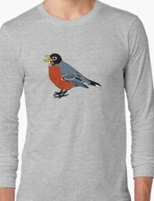 American Robin Bird Long Sleeve T-Shirt