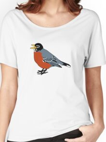 American Robin Bird Women's Relaxed Fit T-Shirt