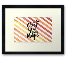 Orange Stripes - Create Your Own Magic Framed Print