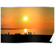 Sunset Bay Outlet Poster