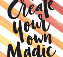 Orange Stripes - Create Your Own Magic Sticker