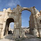 Ruins at Jerash in Jordan by Ren Provo