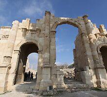 Ruins at Jerash in Jordan by Ren Provo