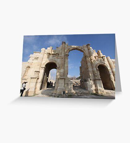 Ruins at Jerash in Jordan Greeting Card