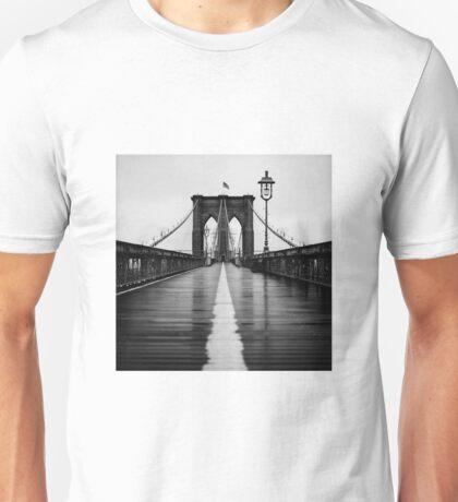 Brooklyn Bridge In Rain Unisex T-Shirt