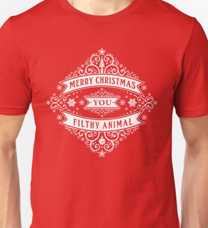 Merry Christmas You Filthy Animal (vintage) Unisex T-Shirt