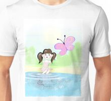 Girl with butterfly T-Shirt