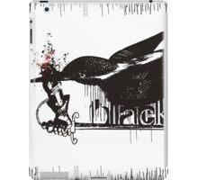 Art word black dripping bird knights sword iPad Case/Skin