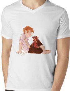 Bilbo and Smaug Mens V-Neck T-Shirt