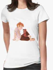 Bilbo and Smaug Womens Fitted T-Shirt