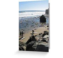 Santa Cruz is a Surf Haven Greeting Card