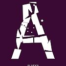 Letter A - typography (Alaska) by Mixposters