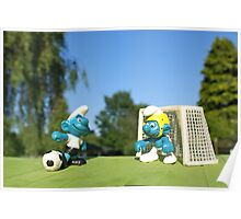 Smurf football Poster