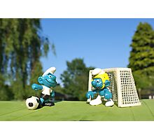 Smurf football Photographic Print