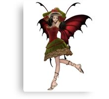 Christmas Fairy Elf Girl Canvas Print