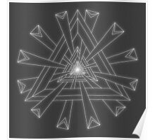 Sacred Geometry - White on Dk Grey Print Poster