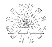 Sacred Geometry - Color Your Own Card by TheMandalaLady