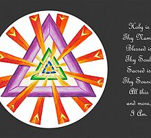 Sacred Geometry - Full-Color Card w/Msg - Grey Background by TheMandalaLady