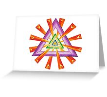 Sacred Geometry - Full-Color Card Greeting Card