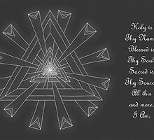 Sacred Geometry - Card - White Design w/Message by TheMandalaLady