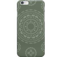 Monogram Pattern (E) in Deep Lichen iPhone Case/Skin