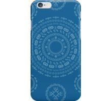Monogram Pattern (E) in Mykonos iPhone Case/Skin