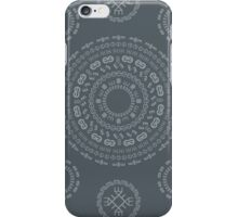 Monogram Pattern (E) in Turbulence iPhone Case/Skin