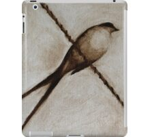 Bird on a wire painting iPad Case/Skin