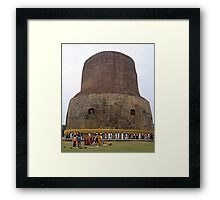 Korean Pilgrams at Sarnath India Framed Print