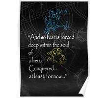 Adventure Time, Finn and Jake Quote  Poster