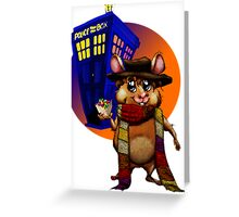 Doctor Who Hamster Jelly baby? Greeting Card
