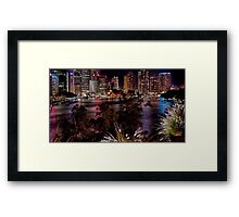 Colour upon the river Framed Print