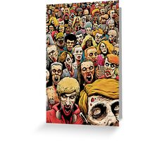 Zombie Horde Greeting Card