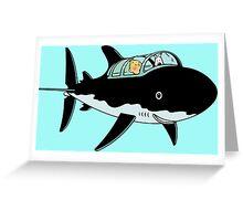 Tintin Submarine Greeting Card