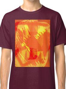 Abstract brush face - orange Classic T-Shirt