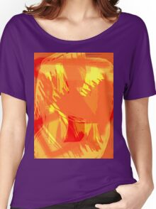 Abstract brush face - orange Women's Relaxed Fit T-Shirt