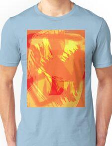 Abstract brush face - orange Unisex T-Shirt