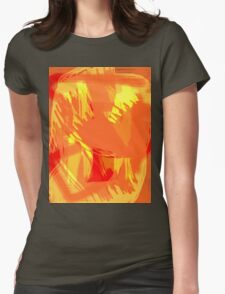 Abstract brush face - orange T-Shirt