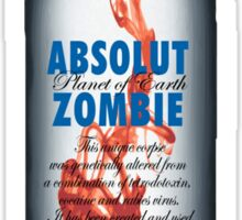 ABSOLUT ZOMBIE Sticker