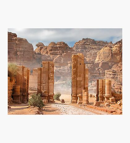 Temenos Gateway in Petra, Jordan Photographic Print