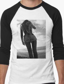 Black and white babe Men's Baseball ¾ T-Shirt