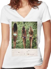 Fit Girls Women's Fitted V-Neck T-Shirt