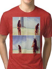 Beautiful Beach Girl Tri-blend T-Shirt