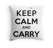 Keep Calm: Dragonglass (Black) Throw Pillow