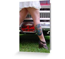 Vanity tag and tattoo Greeting Card